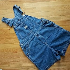 Old Navy vintage jean overall shorts